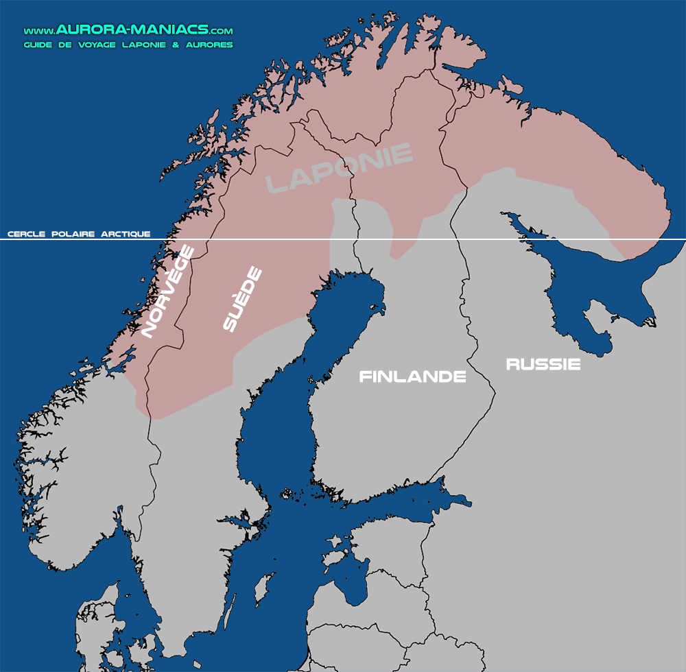 Carte Finlande Suède Norvège