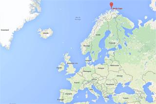Cap Nord, l'endroit le plus septentrional de l'Europe