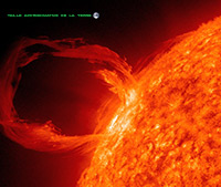 Ejection de masse coronale (EMC) © NASA/SDO