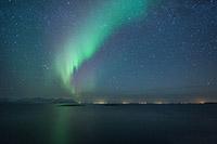 Aurore Boréale au dessus des Iles Lofoten (Norvège)
