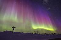 Nuit du 17 mars 2015 - Plus grosse activité solaire depuis 10 ans - Nord de la Finlande