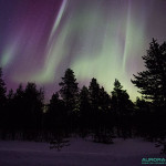 Aurores boreales du 17 mars 2015, nord de la Finlande