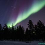 Aurores boreales du 17 mars 2015, nord de la Finlande - 19mm - 15s - f/4 - 3200 ISO