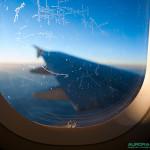 Dans l'avion en direction de la Laponie