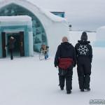Combinaison contre le froid au Ice Hotel de Kiruna