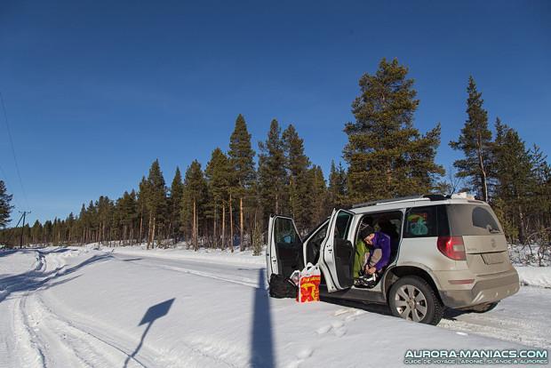 Dormir dans son vehicule en Laponie suédoise