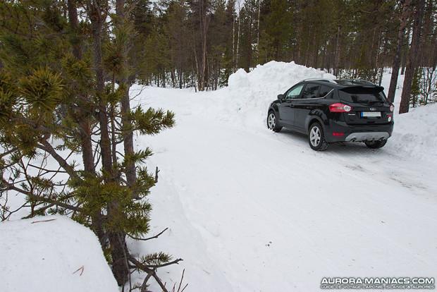 Première nuit de ce séjour dans le 4x4 (forêt de Kiruna, Suède)