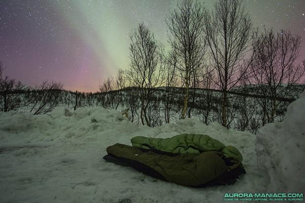 Dormir sous les aurores boréales, Iles Lofoten (Norvège)