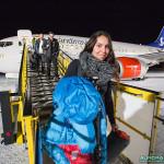 Arrivée à l'aéroport de Kiruna (Suède)