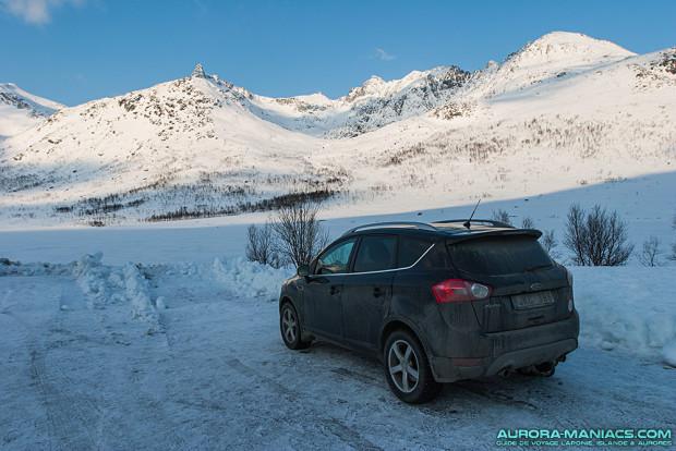 Paysage au réveil après une nuit dans le véhicule, autour de Tromso