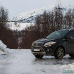 Piste verglacée dans la région de Tromso