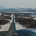Route des aurores boréales, Laponie