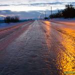 Routes norvegiennes verglacées entre Kokelv et Nuorgam