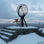Jérôme, et le globe, emblème de Cap Nord
