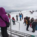 Cap Nord - Attraction principal, se faire prendre en photo avec le globe