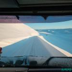 Cap Nord - Depuis le chasse neige ouvrant le convoi
