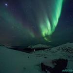 Aurore boréale dans la région de Tromso