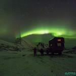 Aurore boreale au dessus de Rekvik