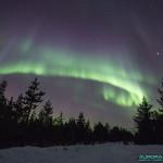 Aurore boréale en Finlande