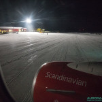Arrivée à l'aéroport de Kiruna