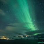 Aurore boréale au dessus de la mer de Norvège