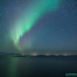 Aurore boréale dans les iles Lofoten