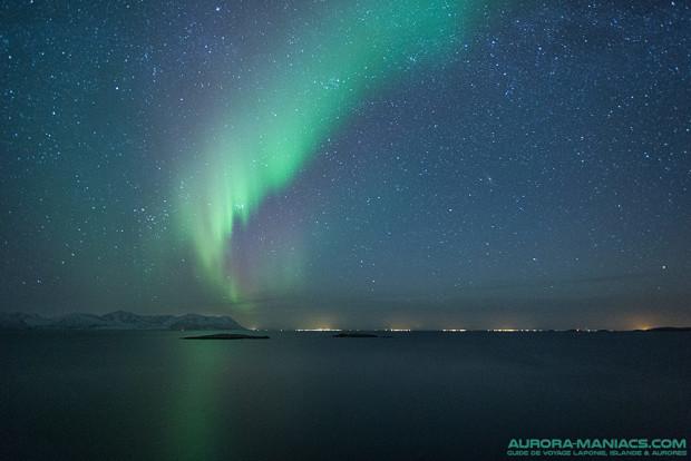 Aurores boreales dans les iles Lofoten