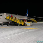Avion SAS à l'arrivé, à l'aéeoport de Kiruna, Suède