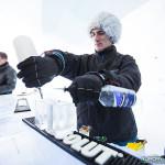 Verres en glace au bar du Ice Hotel de Kiruna