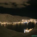 Honningsvag, l'après midi, pendant la nuit polaire (30 décembre 2013)