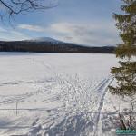 Lac gelé en Laponie finlandaise