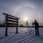 Ski de fond au parc de Pallas Yllastunturi (Cercle parhélique)