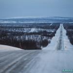 Route au nord de la Finlande