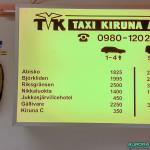 Taxi à l'aéroport de Kiruna, Suède