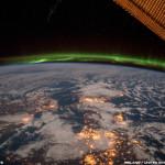 Aurores boréales depuis l'espace - 2015.02.03 - © NASA Terry Virts - Irlande & Royaumes unis & Scandinavie