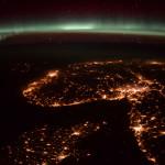 Aurore boréale vue depuis l'espace - 2016.01.31 - © ESA Tim Peake - Denmark-Norvège & Suède