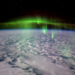 Aurores boréales vues depuis l'espace - 2016.02.23 - © ESA Tim Peake - Thick green fog of aurora