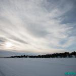 Sur le lac gelé, Hetta, Enontekio (Finlande)