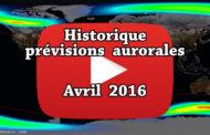 VIDEO - Retrouvez dans cette animation l'historique des prévisions aurorales d'avril 2016