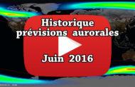VIDEO – Historique des prévisions aurorales de juin 2016