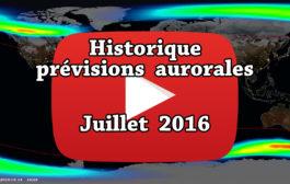 VIDEO – Historique des prévisions aurorales de juillet 2016