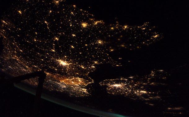 Les aurores boréales depuis l'ISS