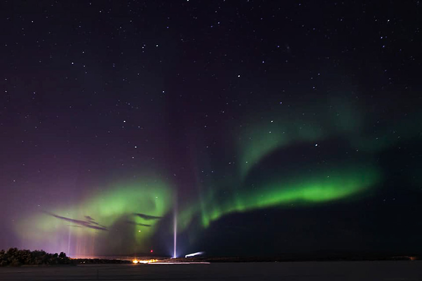aurore boreale en 2018