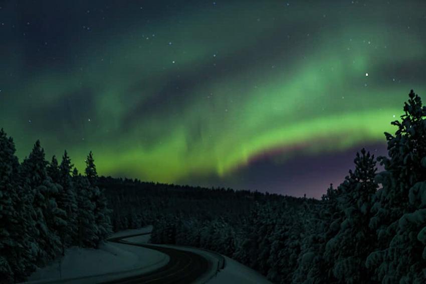 aurore boreale finlande 2018